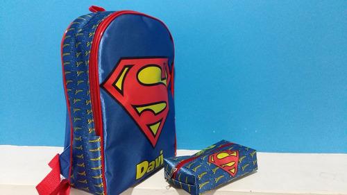 mochila mochilinha personalizada infantil + estojo