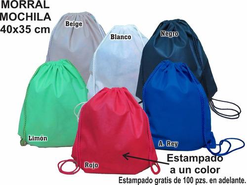 mochila morral 35*40 cm ecológica, publicidad, conferencias.