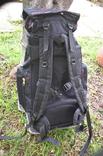 mochila morral camping viajes montañismo hombre mujer 80+5lt