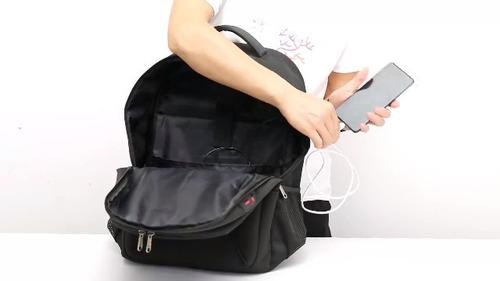 mochila morral viaje portatil 17   puerto usb audifonos xqxa
