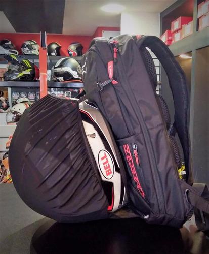 mochila moto alpinestars city hunter com capa chuva