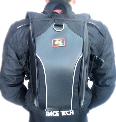 mochila moto esporte max racing lançamento impermeável - g