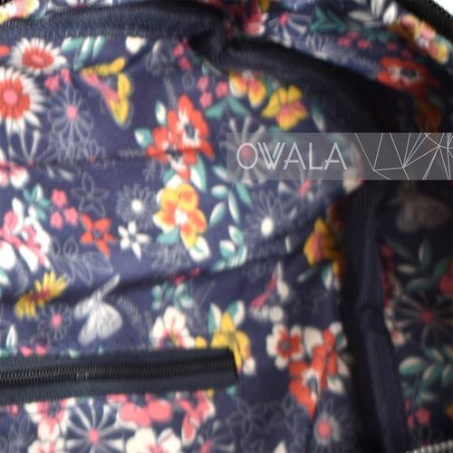 mochila mujer cuero sintetico urbana bolsillos cierres