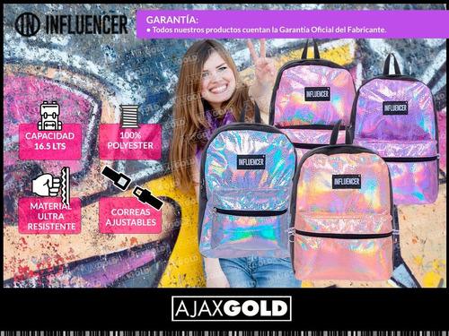 mochila nena influencer mujer urbana niñas colores escolar