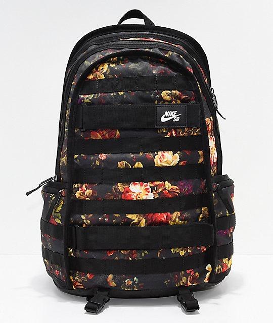 53158662 Mochila Nike Sb Rpm Graphic Black Floral, Lançamento, Frete - R$ 319 ...
