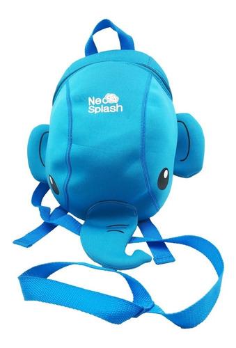 mochila niño elefante neo splash con correa de seguridad