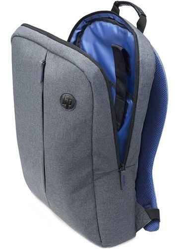 mochila notebook hp atlantis cinza ergonomica almofadada