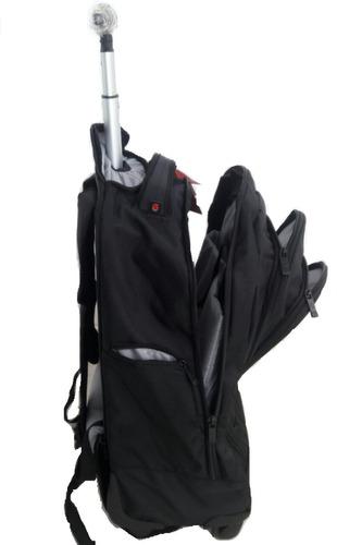 mochila notebook rodinhas 360 graus feminina masculino preta
