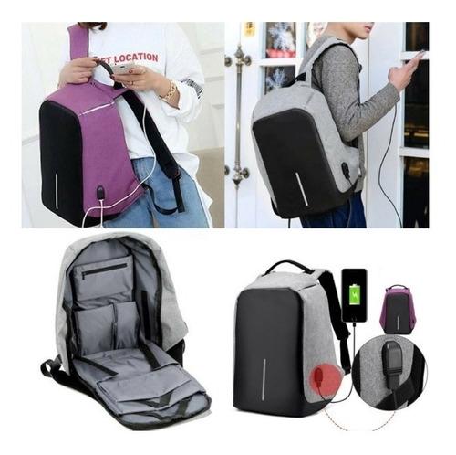 mochila notebook segura anti furto roubo preta impermeavel