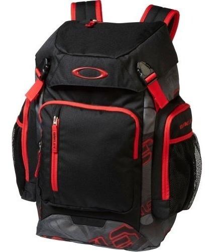 mochila oakley men's works pack 30l-266 backpack, grey red,