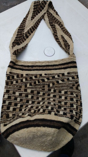 mochila original arhuaca en lana de ovejas - m- mediana