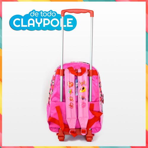 mochila original c/ carrito disney emoji minnie 40x30x12 cms