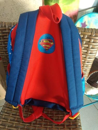 mochila original dc, super hero girls, usada, infantil