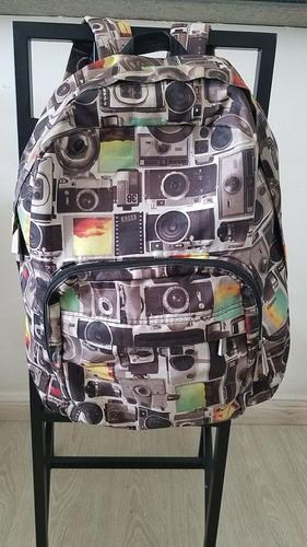 mochila original imaginarium estampa câmera!