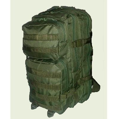 mochila oslotex trekking 40 litros assault, color verde.