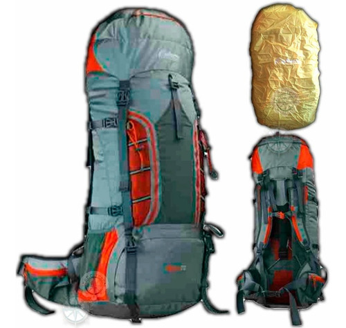 mochila outdoors 70 litros mochilero camping varillas local