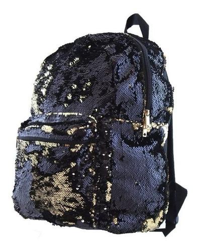 mochila paete brilho lantejoulas escolar frete gratis