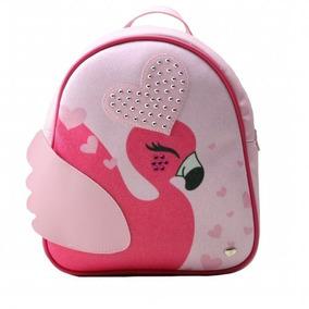 ab428439bd Mochila Pampili Infantil Linha Zoo Do Flamingo
