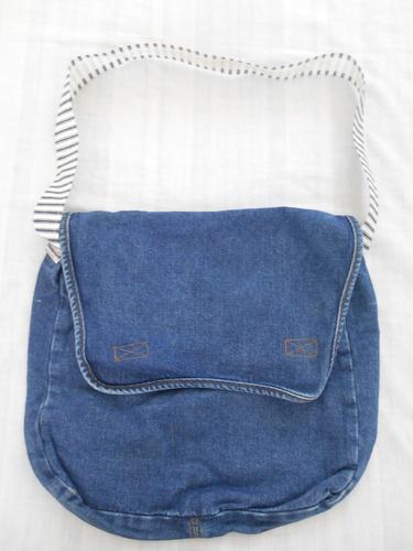 mochila, pañalera, bolsa economica de mezclilla