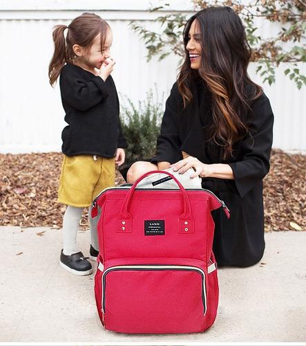 mochila pañalera land bolso regalo maternidad colores