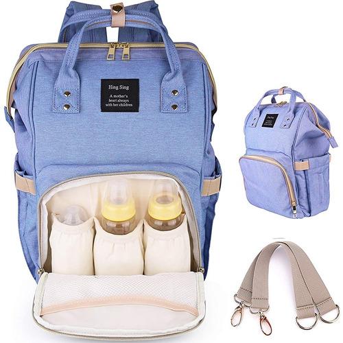 mochila pañalera moderna a prueba de agua