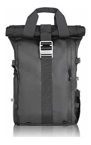 mochila para cámara tapa corrediza portátil compartimiento d