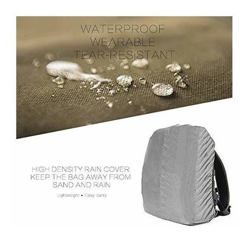 mochila para cámara zecti lona impermeable bolsa profesional