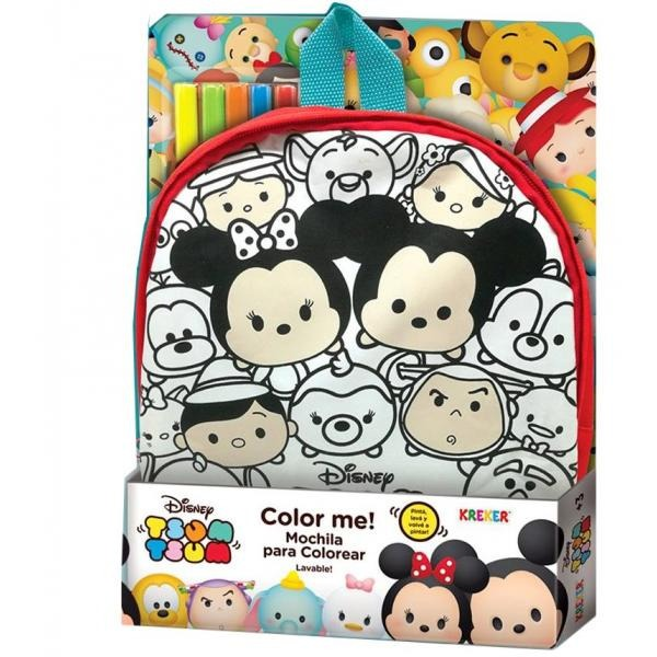 Mochila Para Colorear Tsum Tsum Disney Lavable