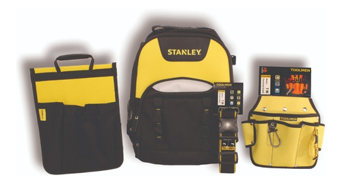 mochila para herramientas stanley + cinturon toolmen t90 t95