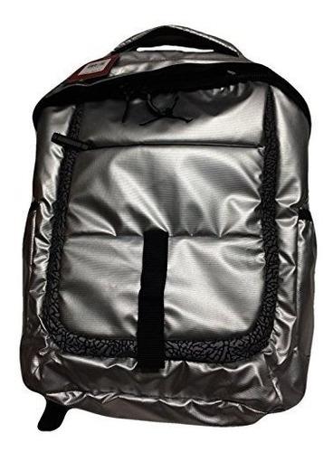 mochila para laptop nike air jordan plata para hombres mujer
