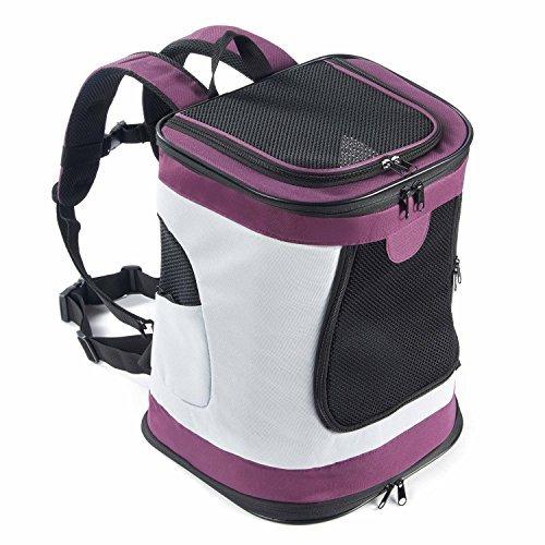 mochila para mascotas baja para viajes de hast