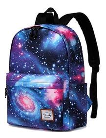 sitio de buena reputación ab91c 3d9ac Mochila Para Niñas Escolar Laptop Vaschy Fashion Galaxia 15