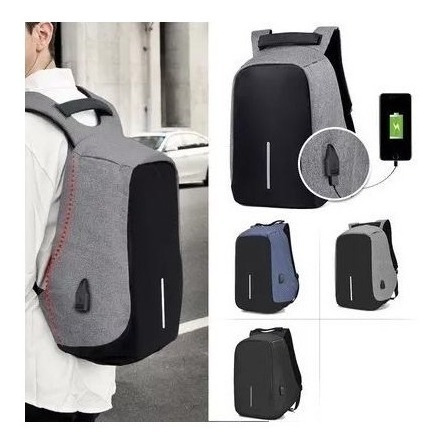 mochila para notebook anti furto roubo usb impermeavel luxo