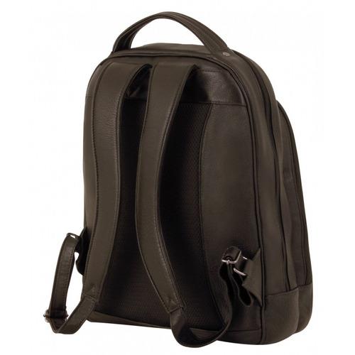 mochila para notebook couro bennesh café 9329