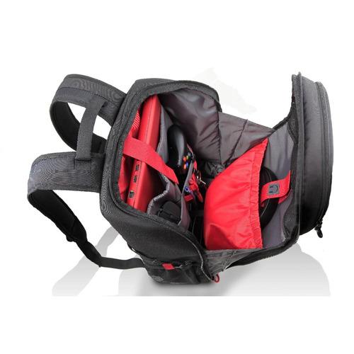 mochila para notebook dell gaming 15,6  preto e vermelho