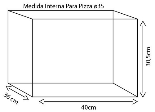 mochila para pizza ø35 térmica