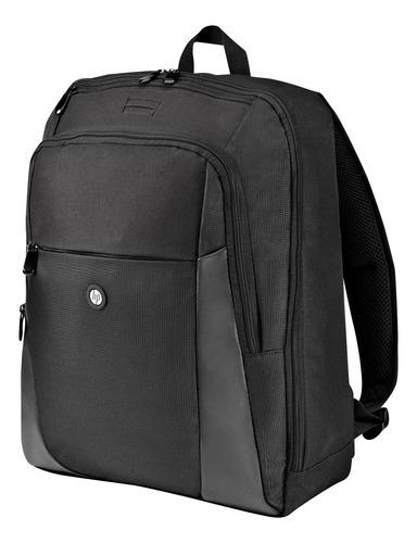 mochila para portátil de 15.6 , color negro hp essential