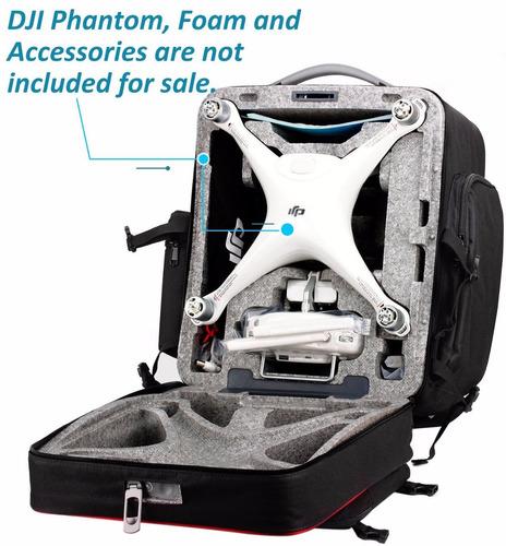 mochila para quadcopter tozo hard shell backpack carrying