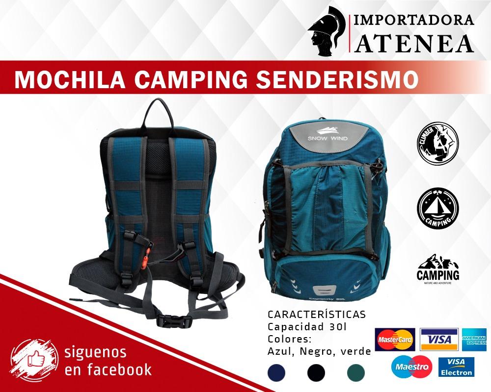 Mochila Para Trekking De 30 Litros Con Varillas De Aluminio - U$S 33 ...