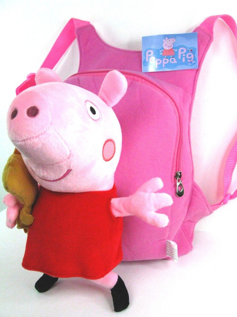 mochila peluche de peppa pig u s 60 00 en mercado libre. Black Bedroom Furniture Sets. Home Design Ideas