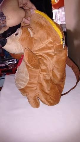 mochila peluche masha y el oso