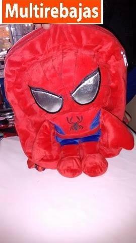 mochila peluche spiderman para niño