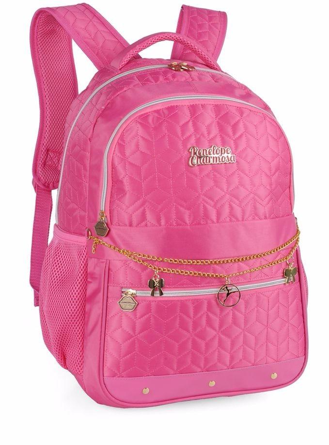 ed0f2f0ff Mochila Penélope Charmosa Mj48264pe Pink Notebook Feminina - R$ 174,80 em  Mercado Livre