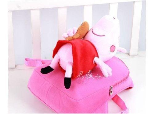 mochila peppa pig com boneca de pelúcia de 30 cm - pepa