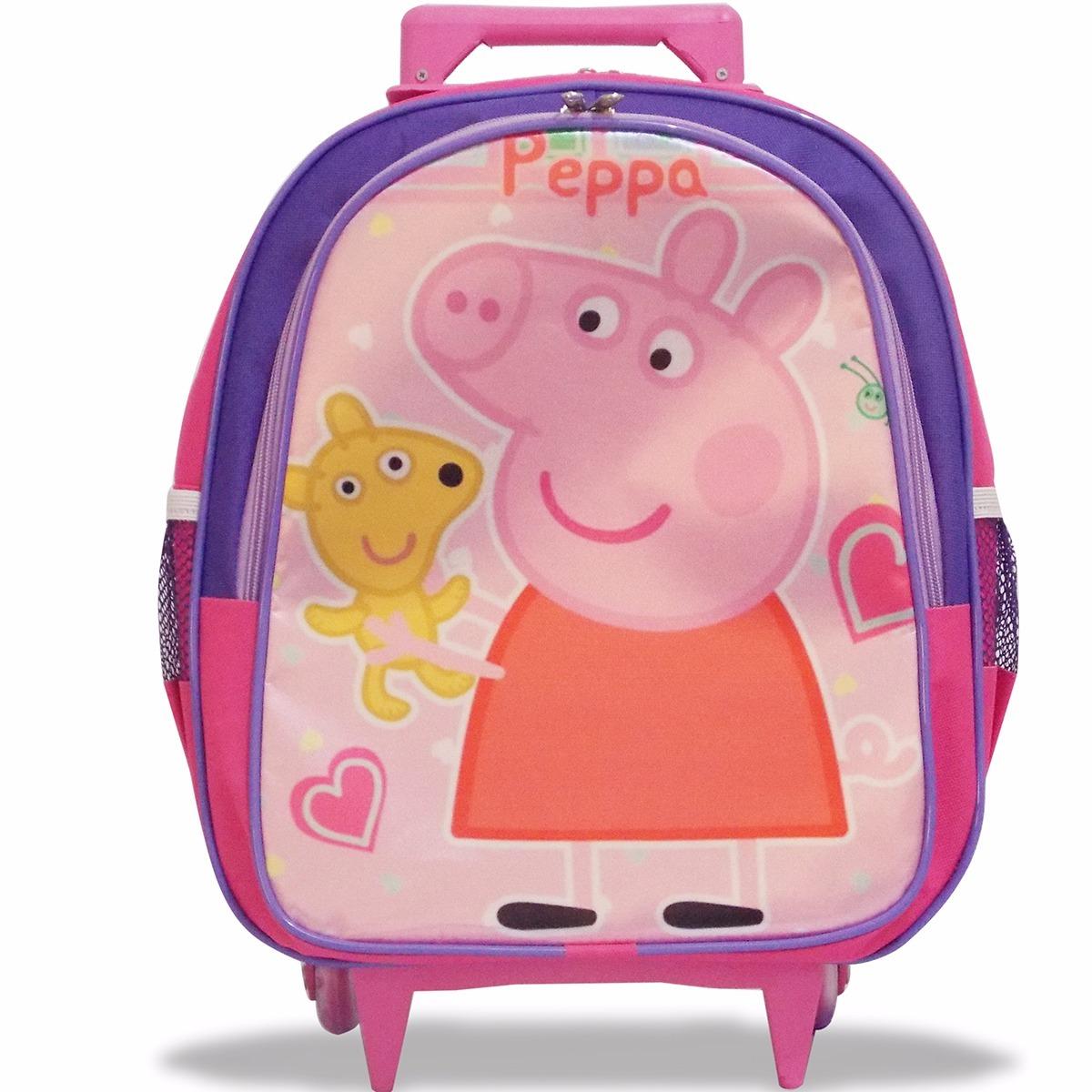 Mochila Escolar Peppa Pig Rosa