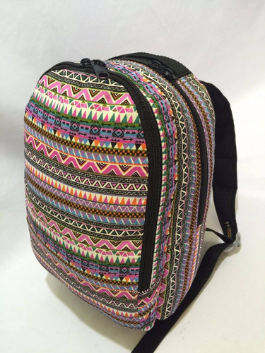 mochila pequena infantil escolar reforçada tribal rosa