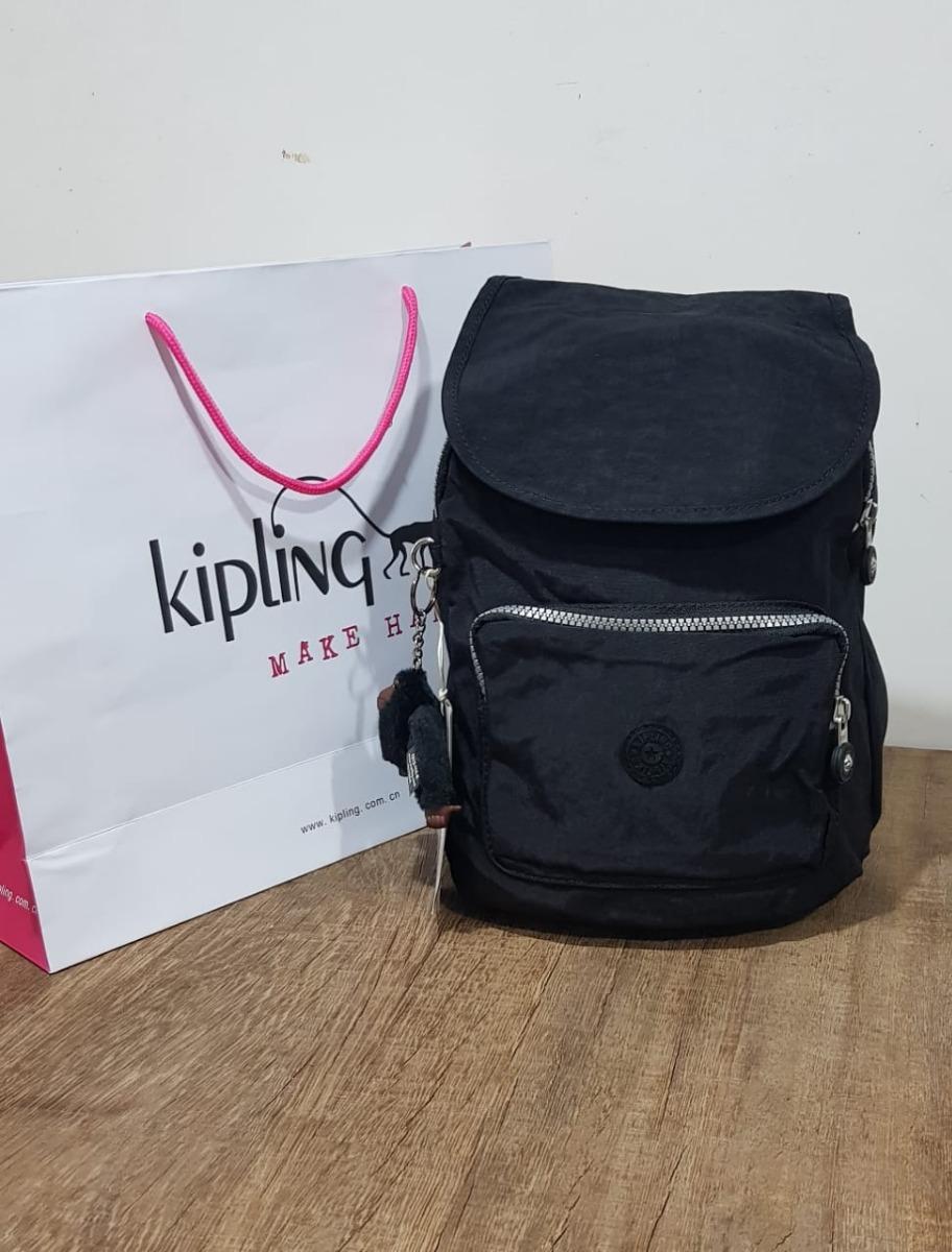 33ff00170 Mochila Pequena Kipling Flex Preta Básica - R$ 470,00 em Mercado Livre