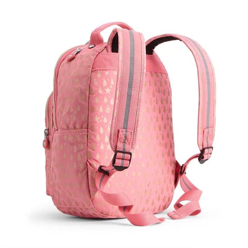 2e855a1b7 mochila pequena seoul go s rosa pink gold drop kipling. Carregando zoom.