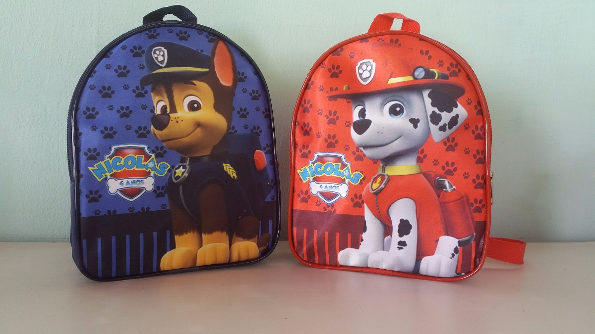 ad7e72bdb mochila personalizada para lembrancinha patrulha canina. Carregando zoom.