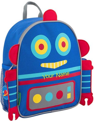 mochila personalizada stephen joseph robot mini sidekick ...